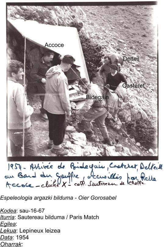 Marcel Loubensen gorpua ateratzeko operazioan.